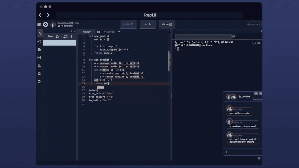 Repl It The Collaborative Browser Based Ide